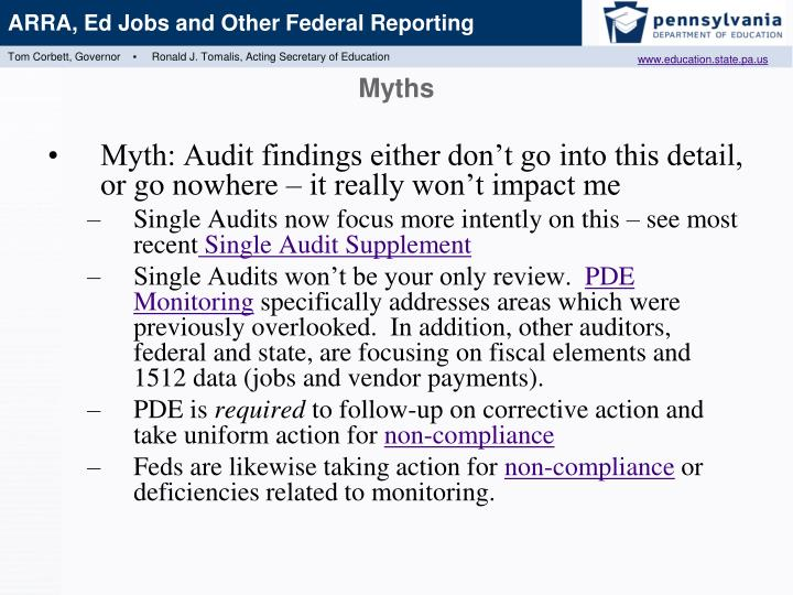Myth: Audit findings either don't go into this detail, or go nowhere – it really won't impact me