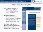 pde s arra reporting site