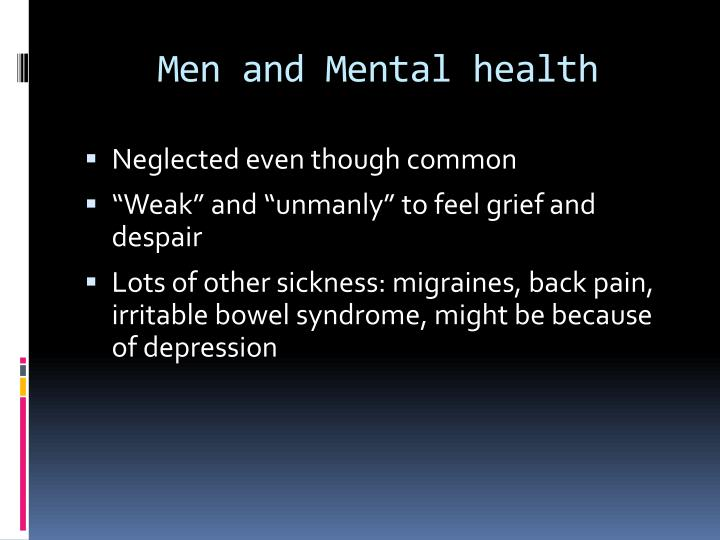 Men and Mental health