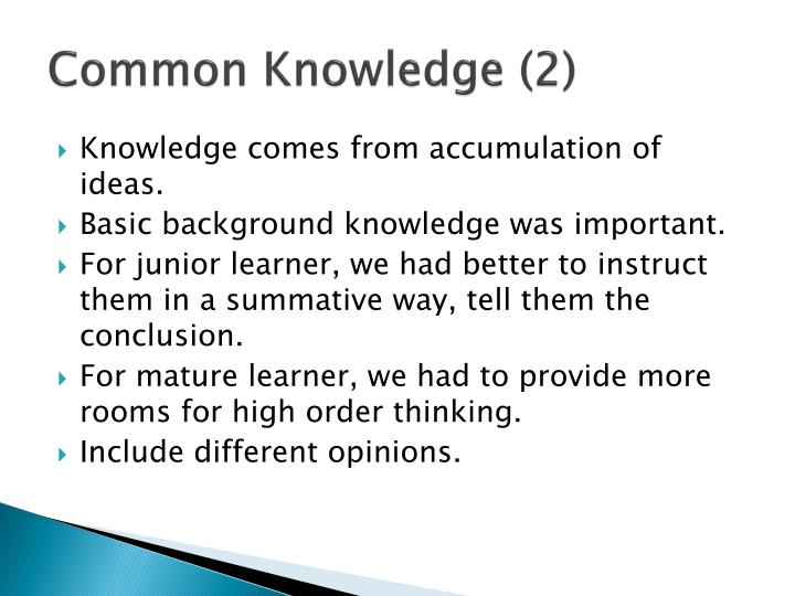 Common Knowledge (2)