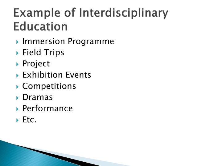 Example of Interdisciplinary Education