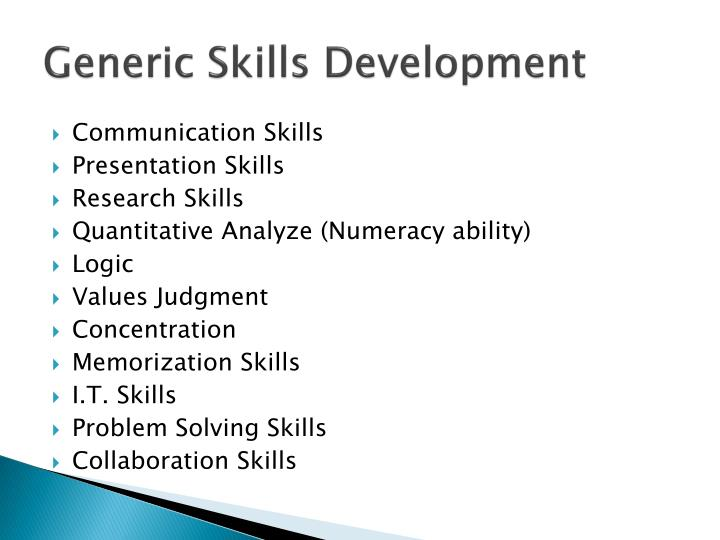 Generic Skills Development