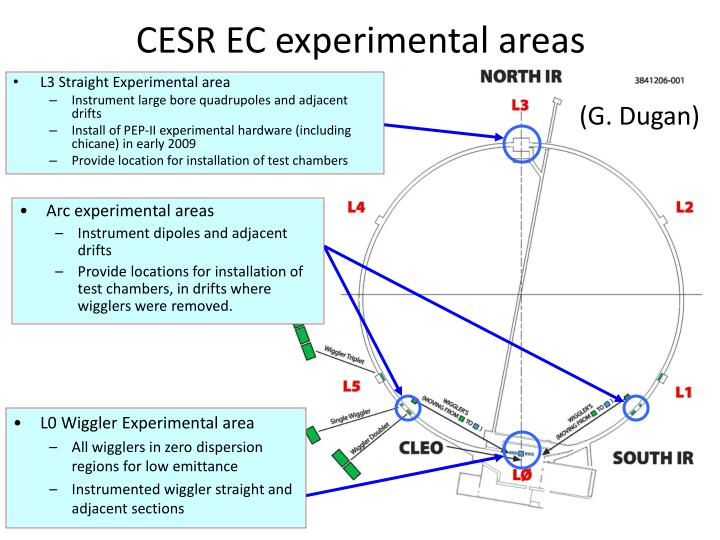 CESR EC experimental areas