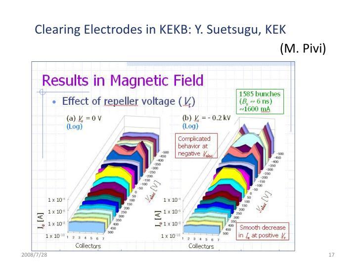 Clearing Electrodes in KEKB: Y. Suetsugu, KEK