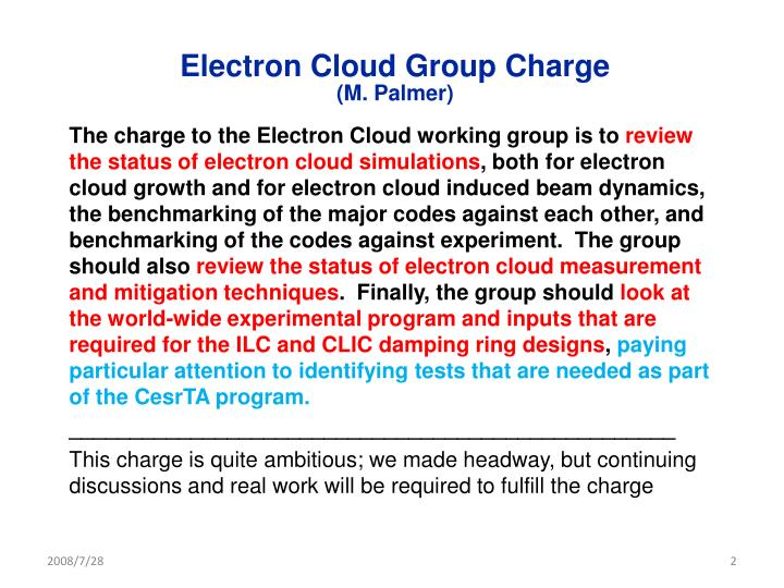 Electron Cloud Group Charge