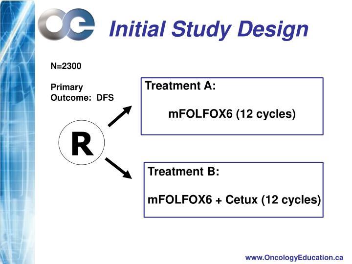 Initial Study Design