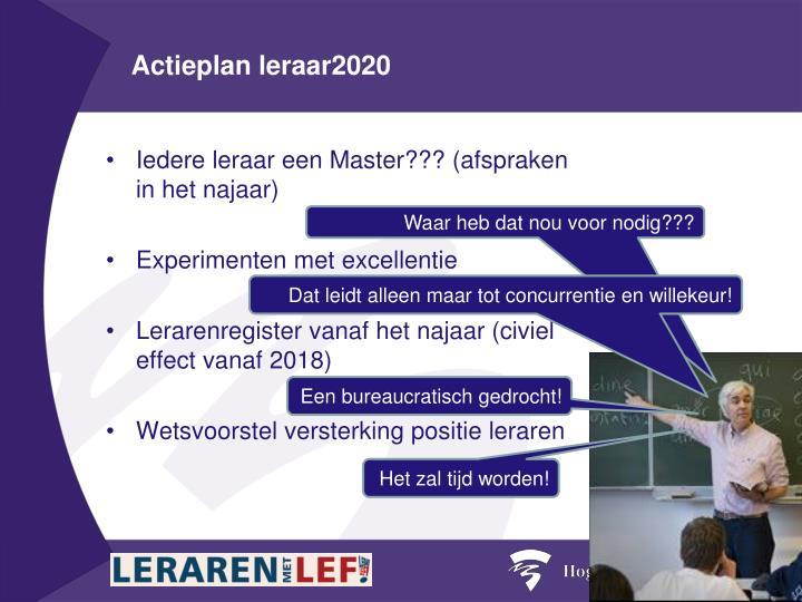 Actieplan leraar2020