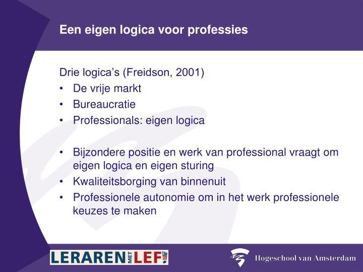 Een eigen logica voor professies