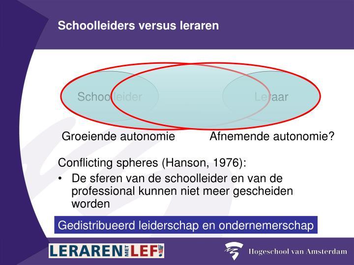Schoolleiders versus leraren