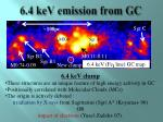 6 4 kev emission from gc