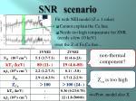 snr scenario