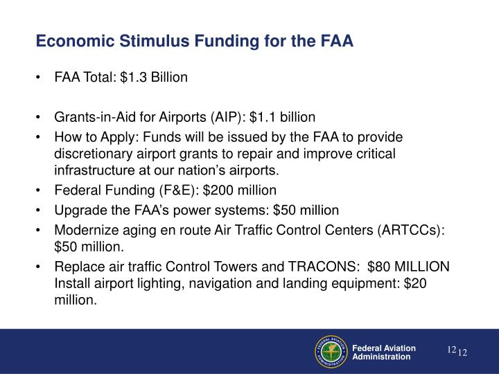 Economic Stimulus Funding for the FAA