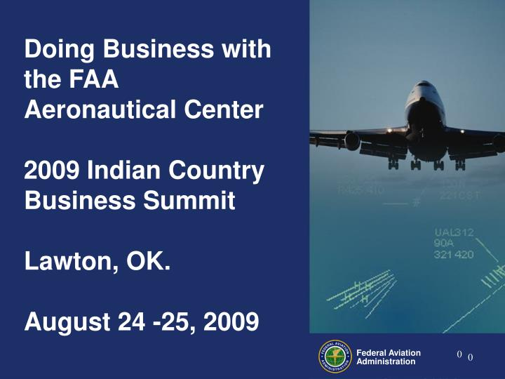 Doing Business with the FAA Aeronautical Center