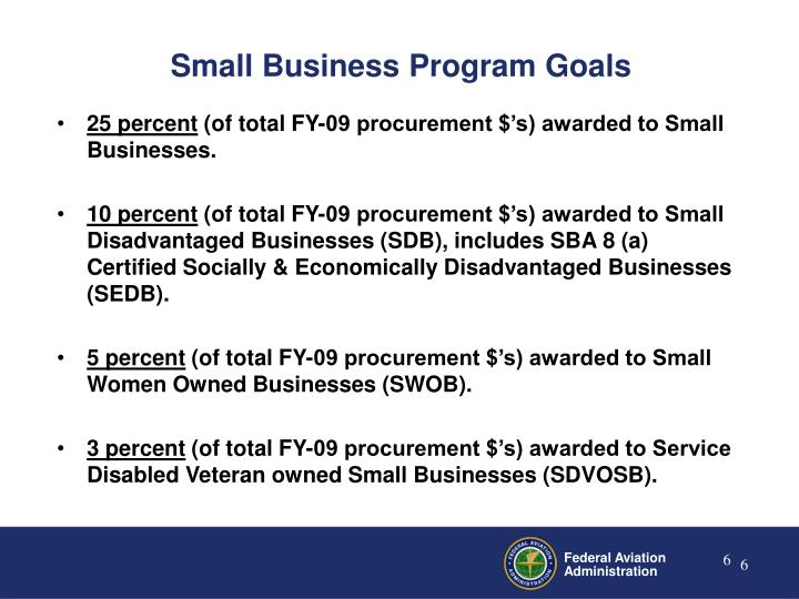 Small Business Program Goals