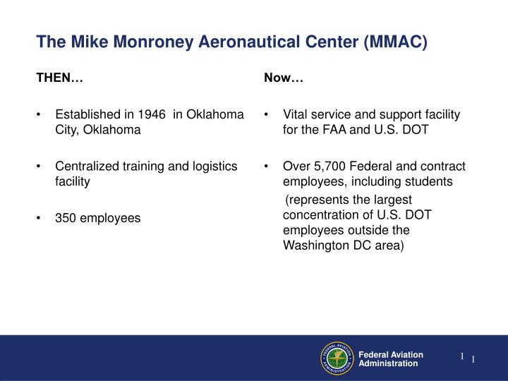 The mike monroney aeronautical center mmac