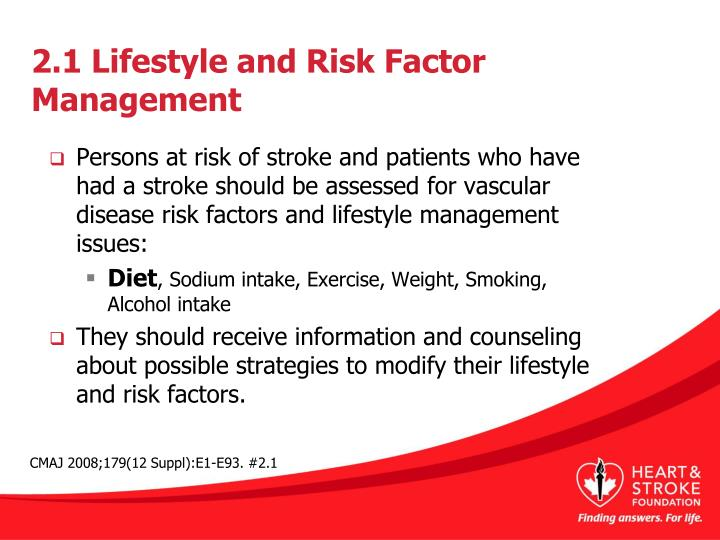 2 1 lifestyle and risk factor management