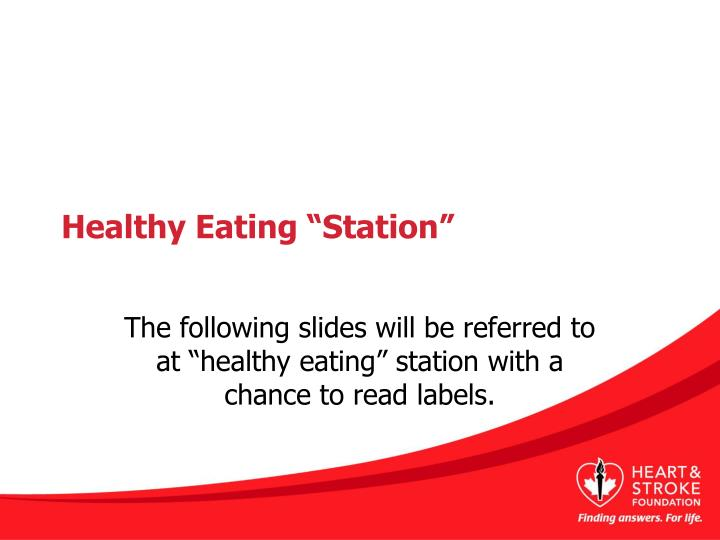 "Healthy Eating ""Station"""