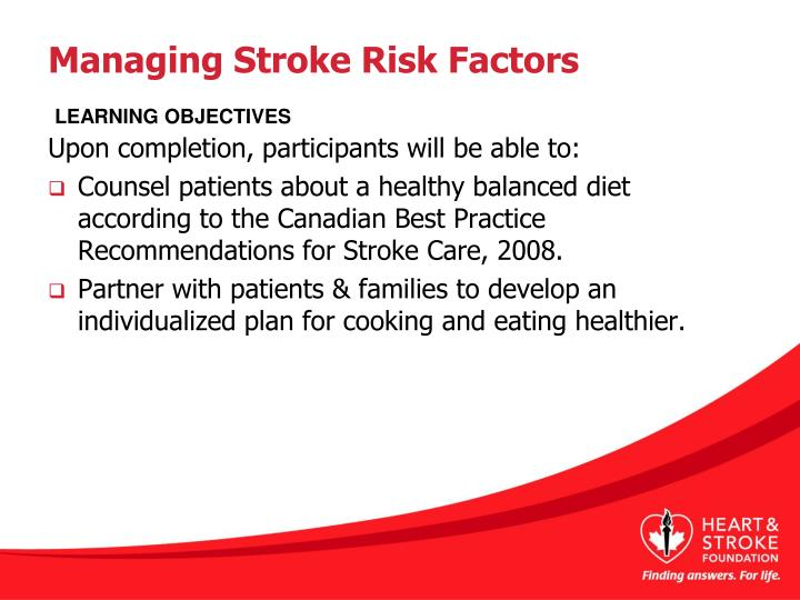 Managing stroke risk factors