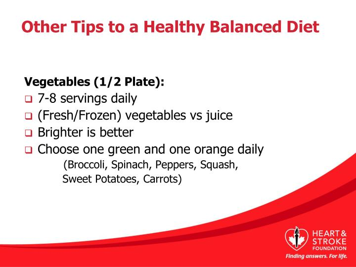 Other Tips to a Healthy Balanced Diet