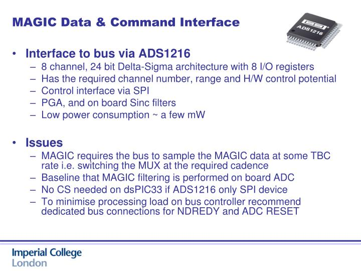 MAGIC Data & Command Interface