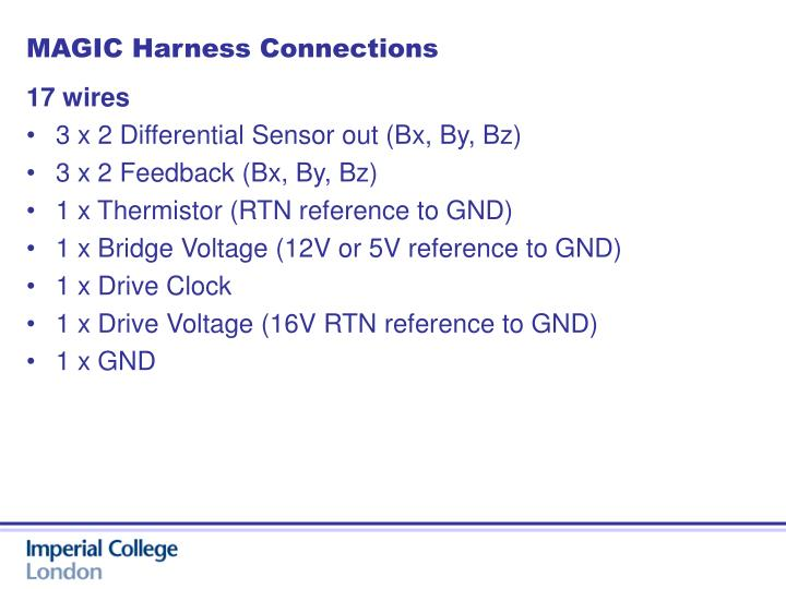 MAGIC Harness Connections