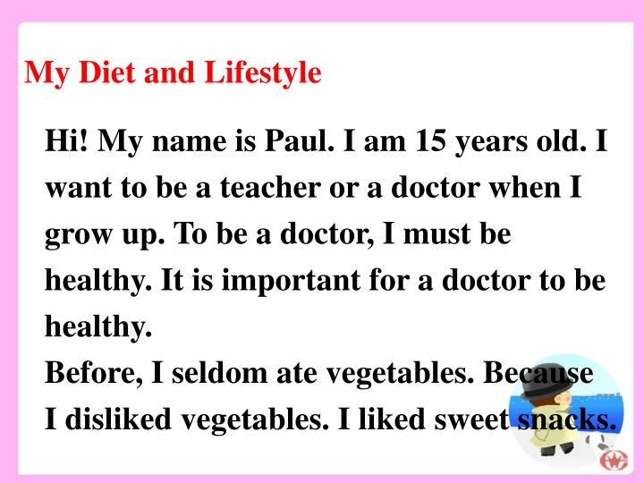 My Diet and Lifestyle