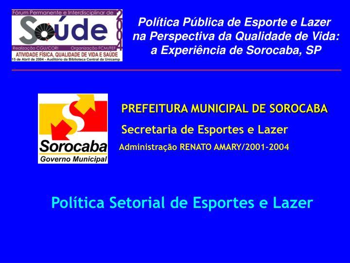 PREFEITURA MUNICIPAL DE SOROCABA