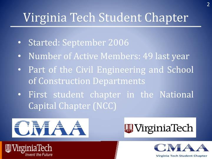 Virginia Tech Student Chapter