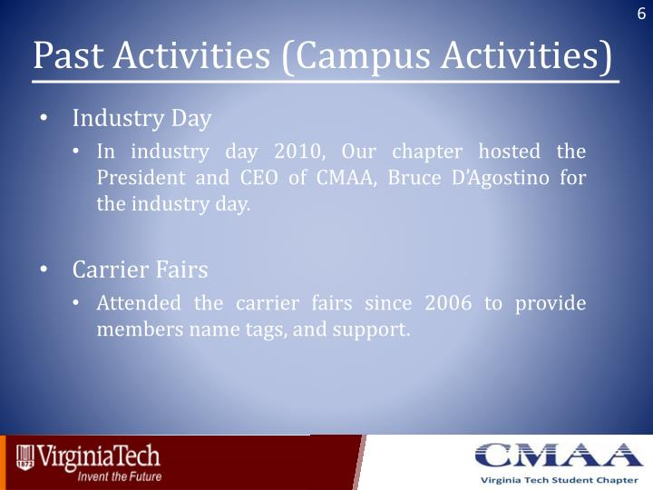Past Activities (Campus Activities)