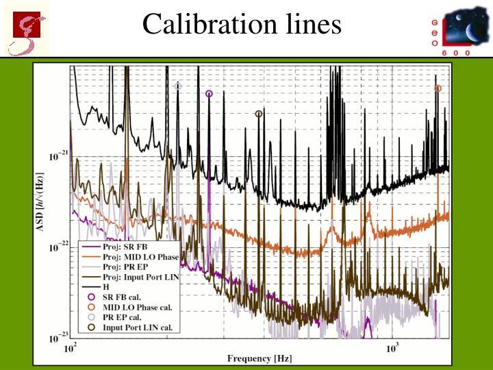 Calibration lines