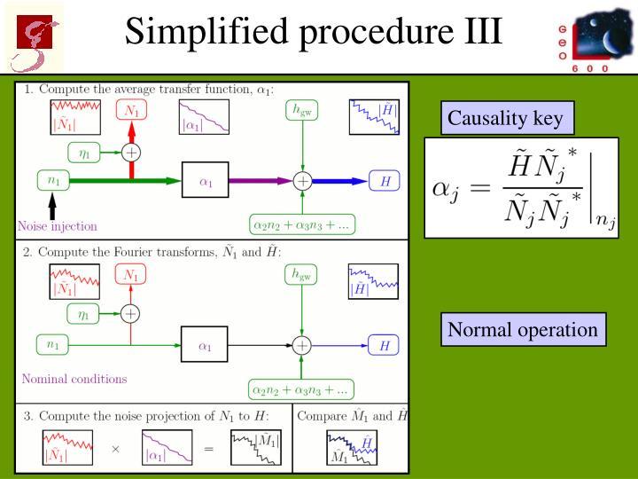 Simplified procedure III