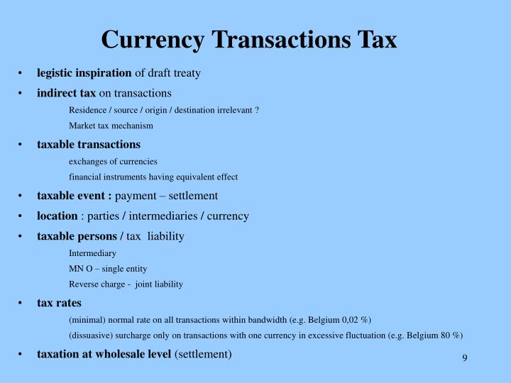 Currency Transactions Tax