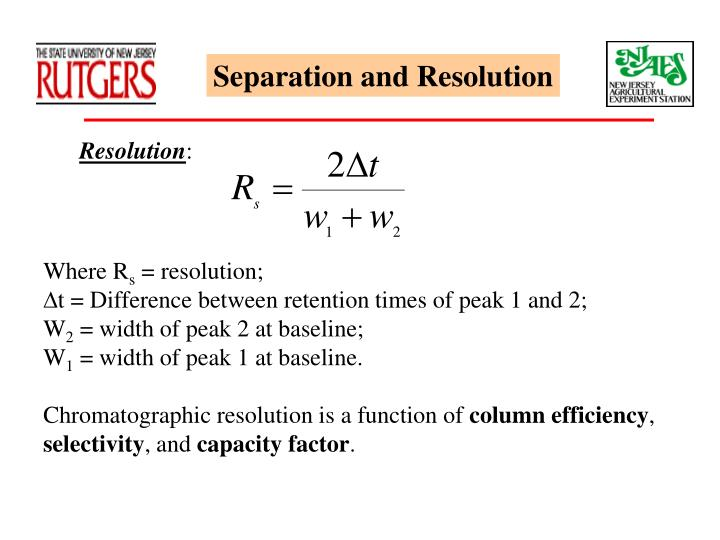 Separation and Resolution