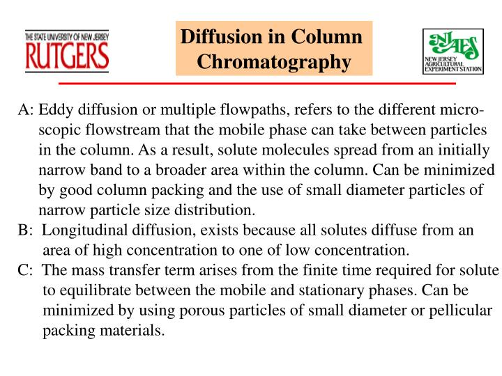 Diffusion in Column