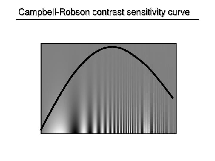 Campbell-Robson contrast sensitivity curve