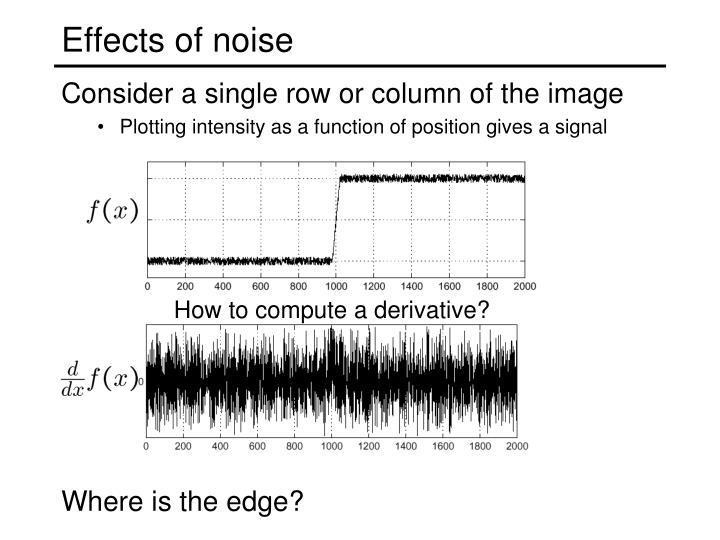 Effects of noise