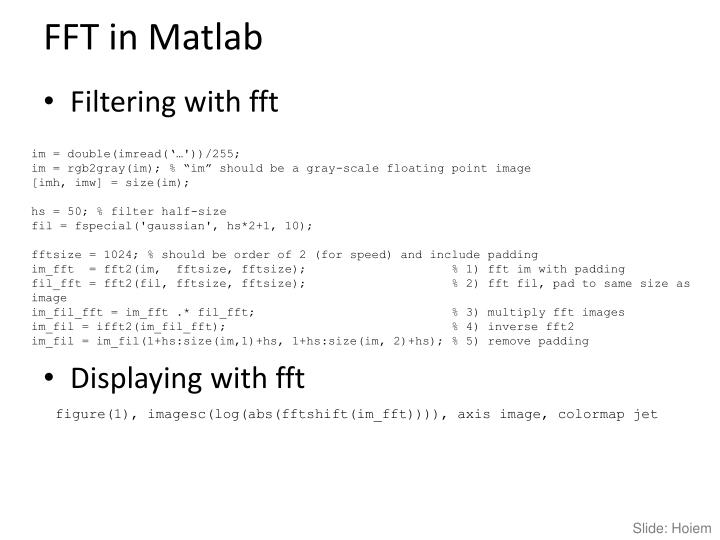 FFT in Matlab