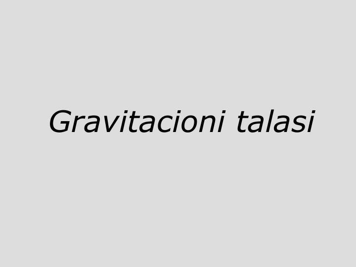 Gravitacioni talasi