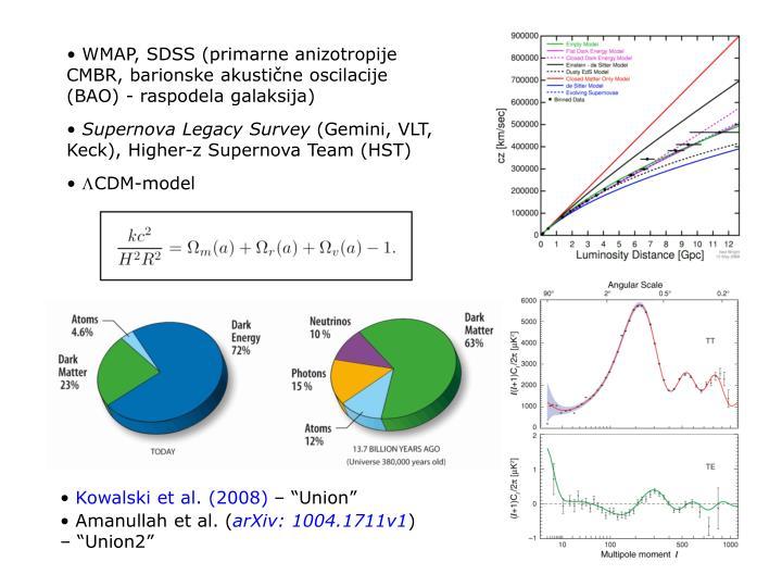 WMAP, SDSS (primarne