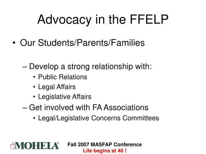 Advocacy in the FFELP