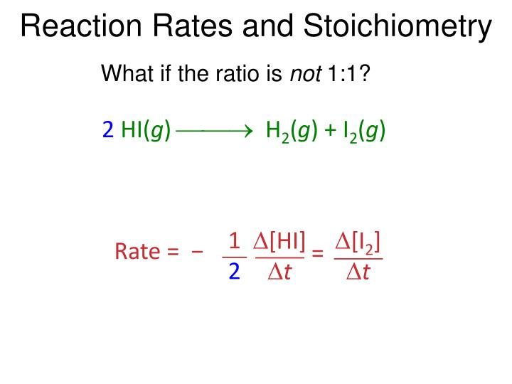 Reaction rates and stoichiometry1