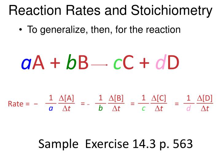 Reaction rates and stoichiometry2