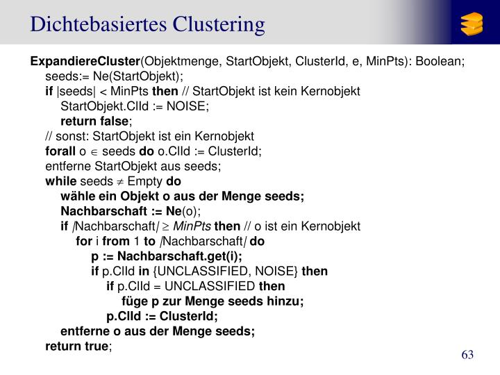 Dichtebasiertes Clustering