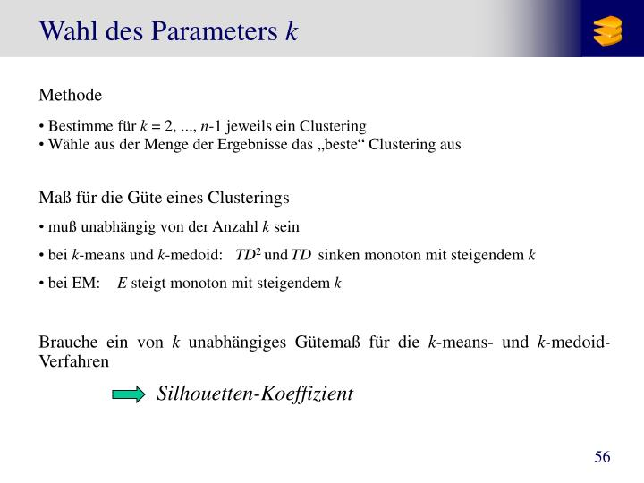 Wahl des Parameters