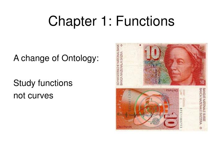 Chapter 1: Functions