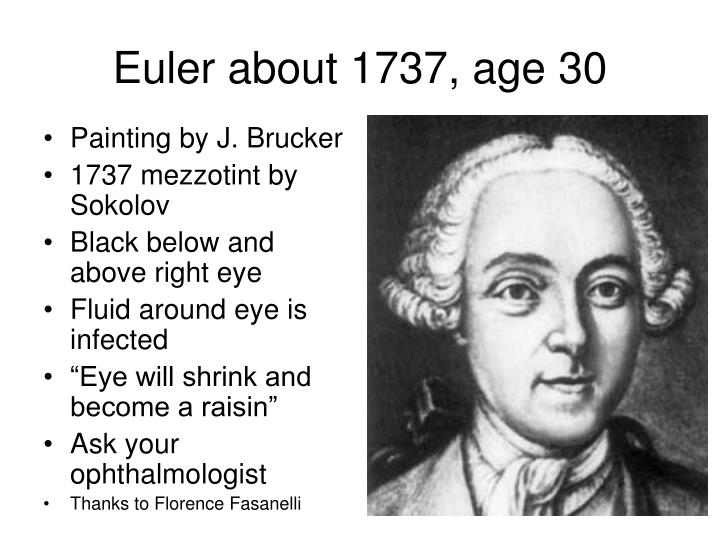 Euler about 1737, age 30