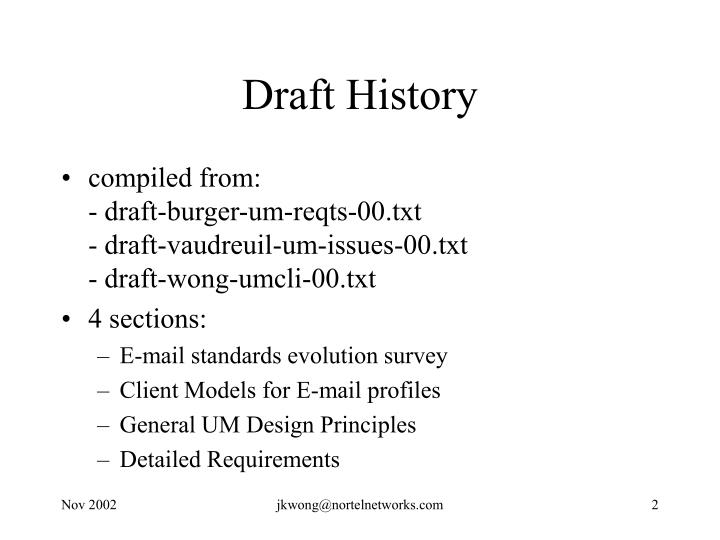 Draft History