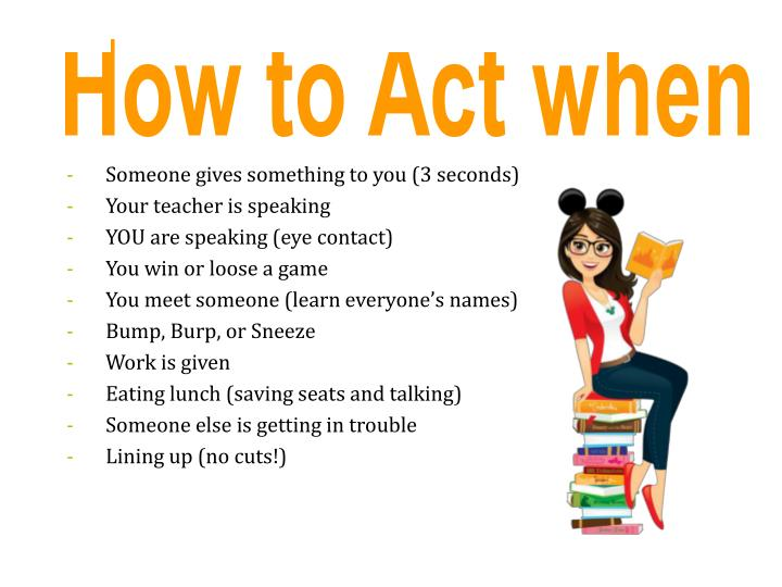 How to Act when