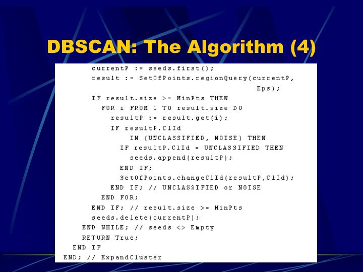 DBSCAN: The Algorithm (4)
