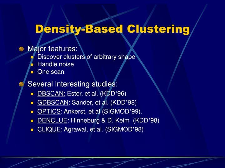 Density-Based Clustering